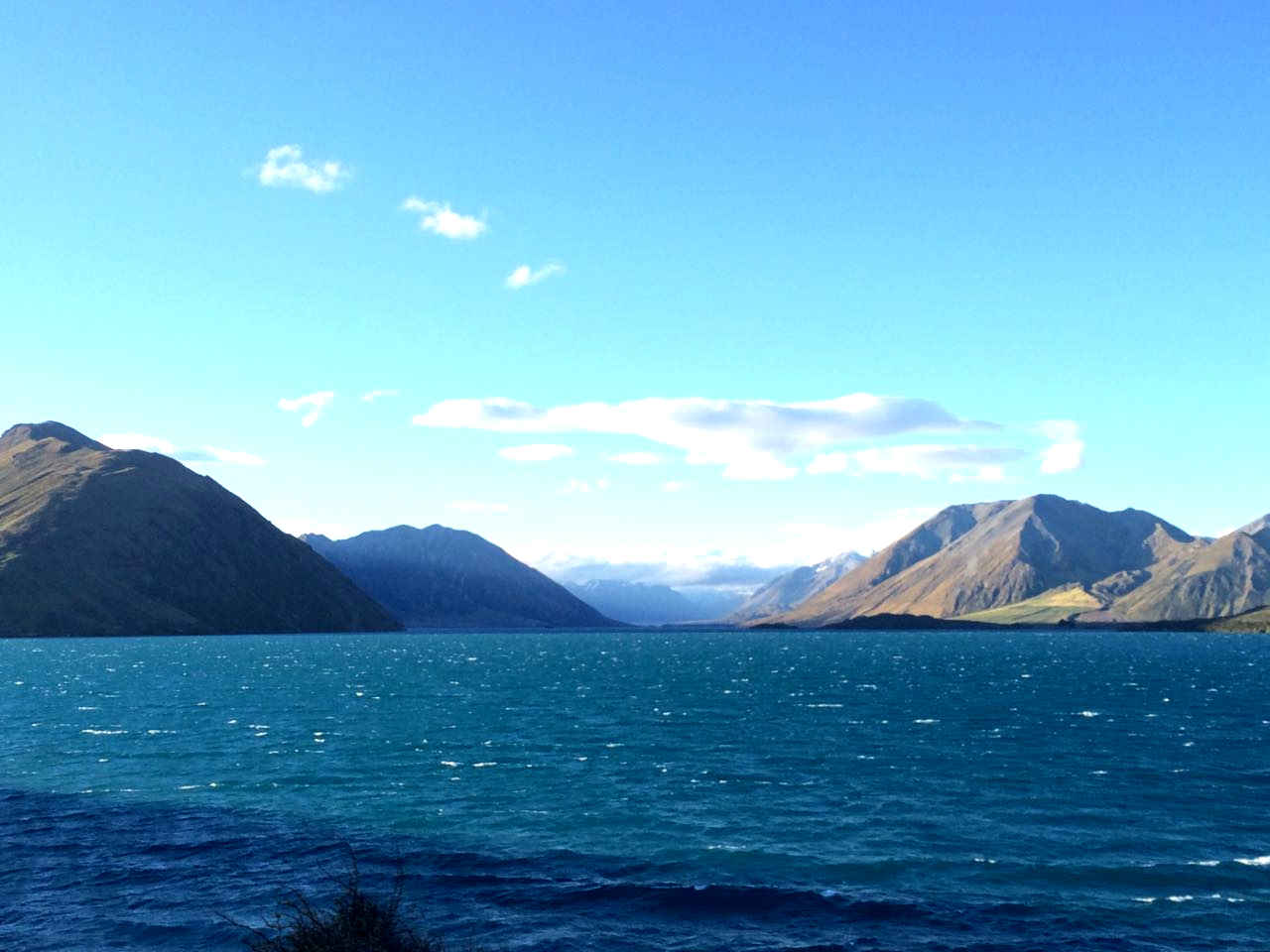 Lake Coleridge from the hydroelectric power station.