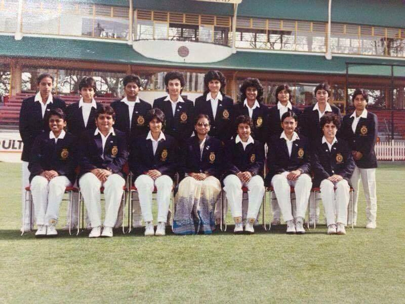 Indian women cricket team visiting Australia in 1989; Ms Nayyar is second from in the front (picture courtesy: Nayan Nayyar)
