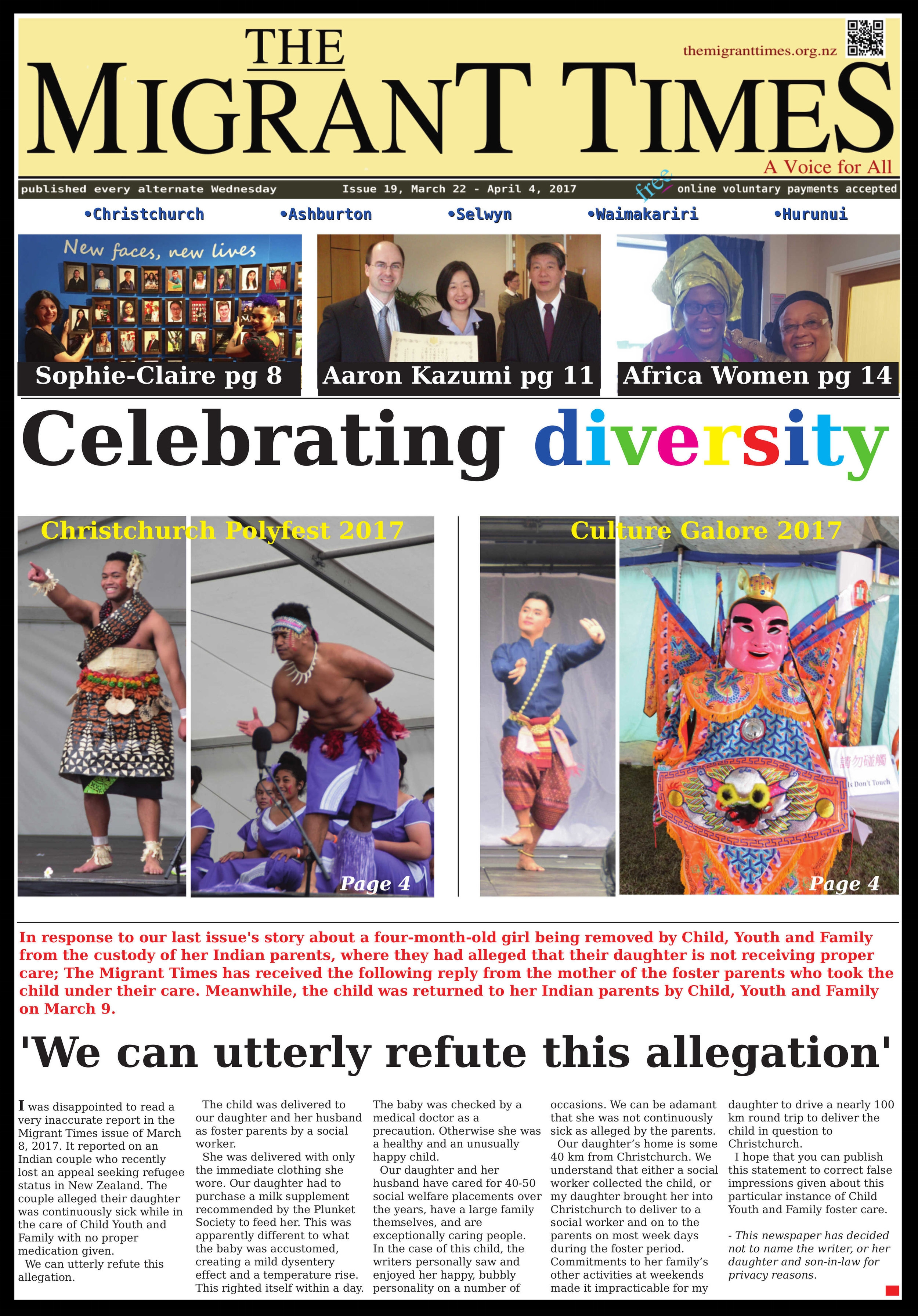 Click on the image to read the pdf version    Issue 19, March 22 - April 4, 2017