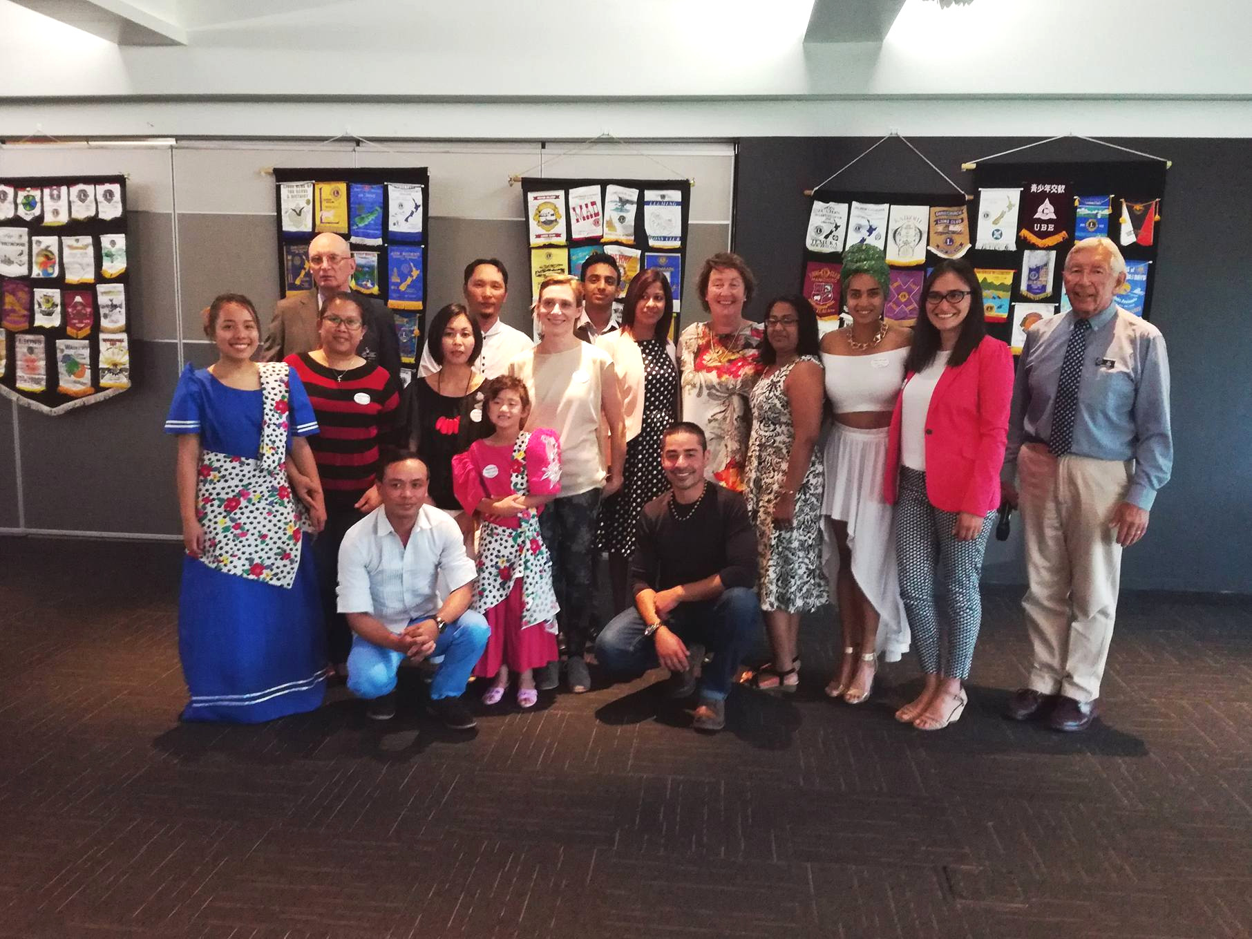 A panel of speakers from different countries at a Multicultural Evening organized by the Ashburton Lions