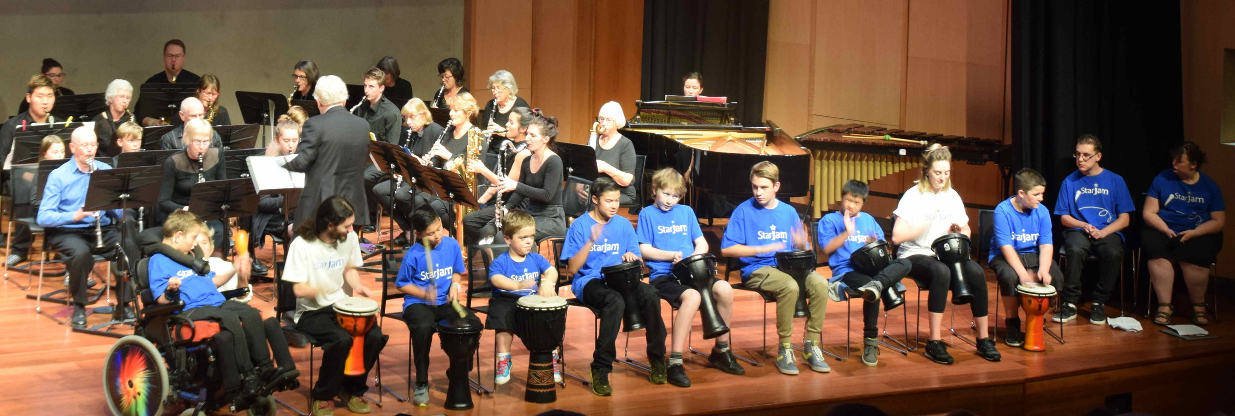 Full orchestra and the Dynamic Drumming by StarJam kids