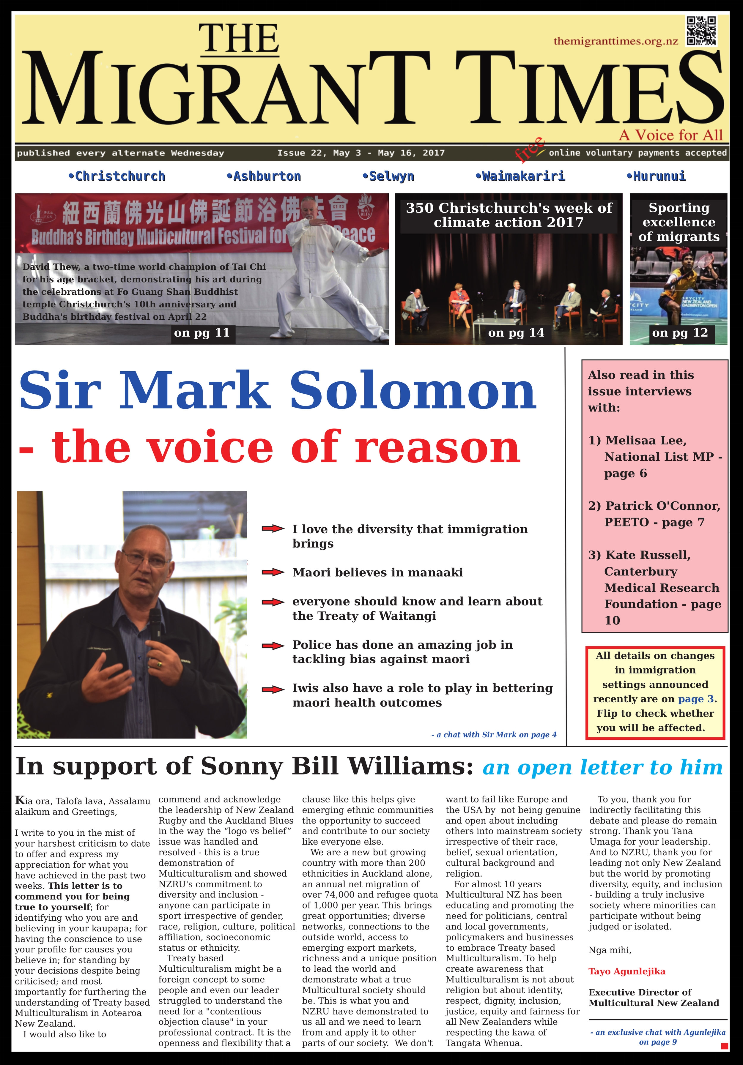 Click on the image to read the pdf version    Issue 22, May 3 - May 16, 2017