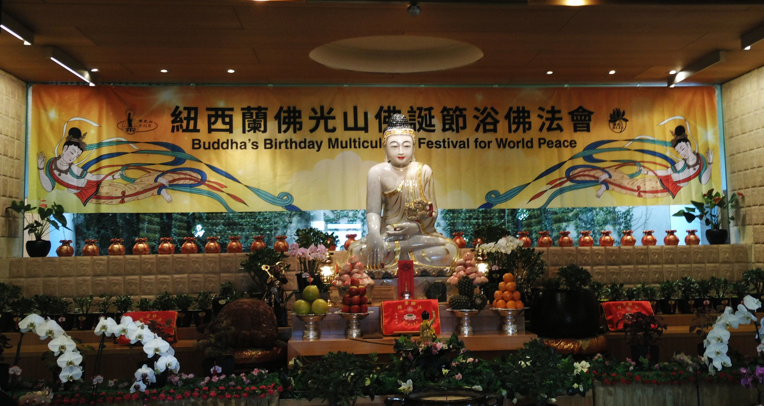 Celebrations at FGS Buddhist temple Christchurch's 10th anniversary and Buddha's birthday festival on April 22