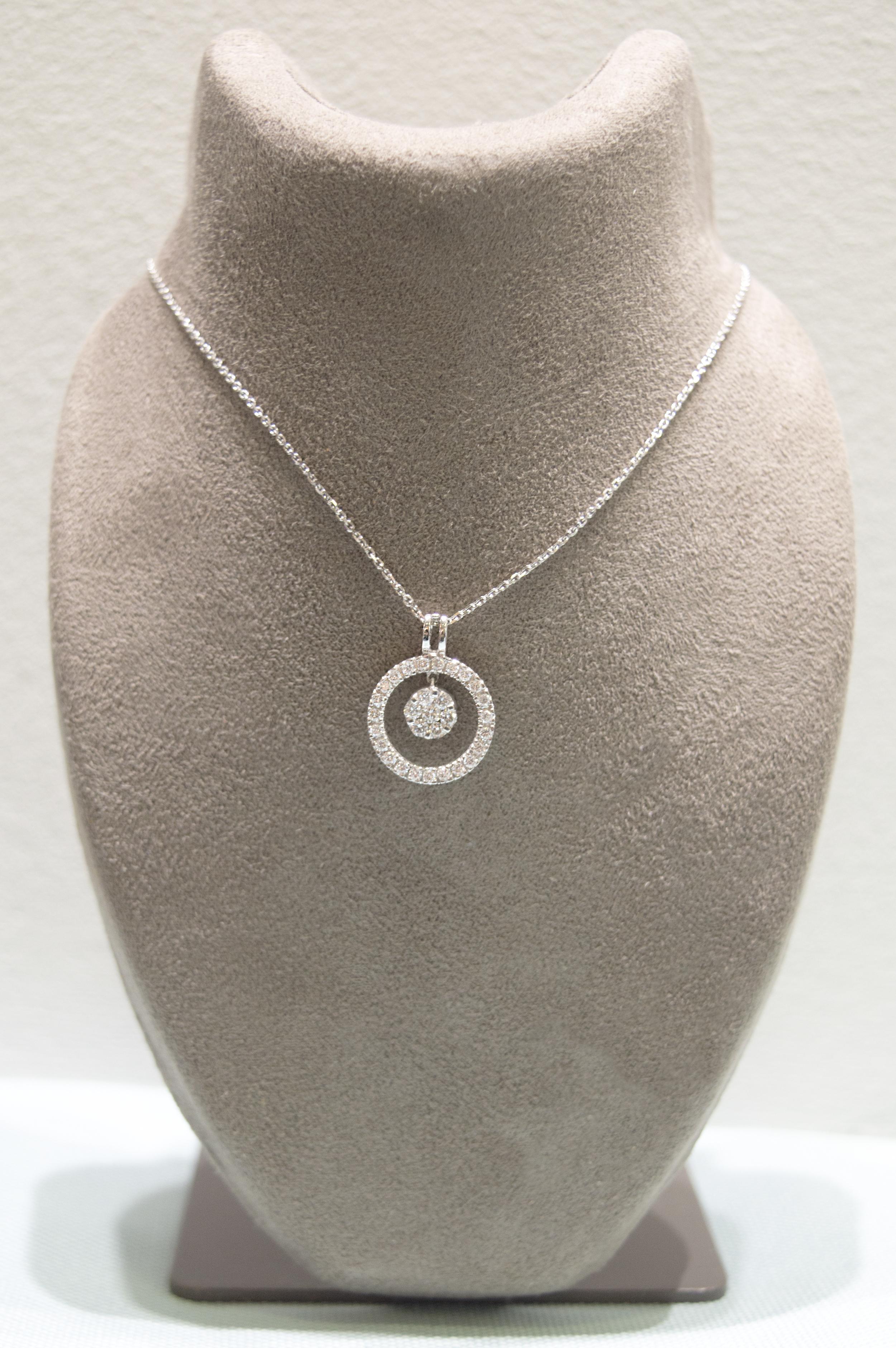 £850 - Diamond & White Gold Pendant