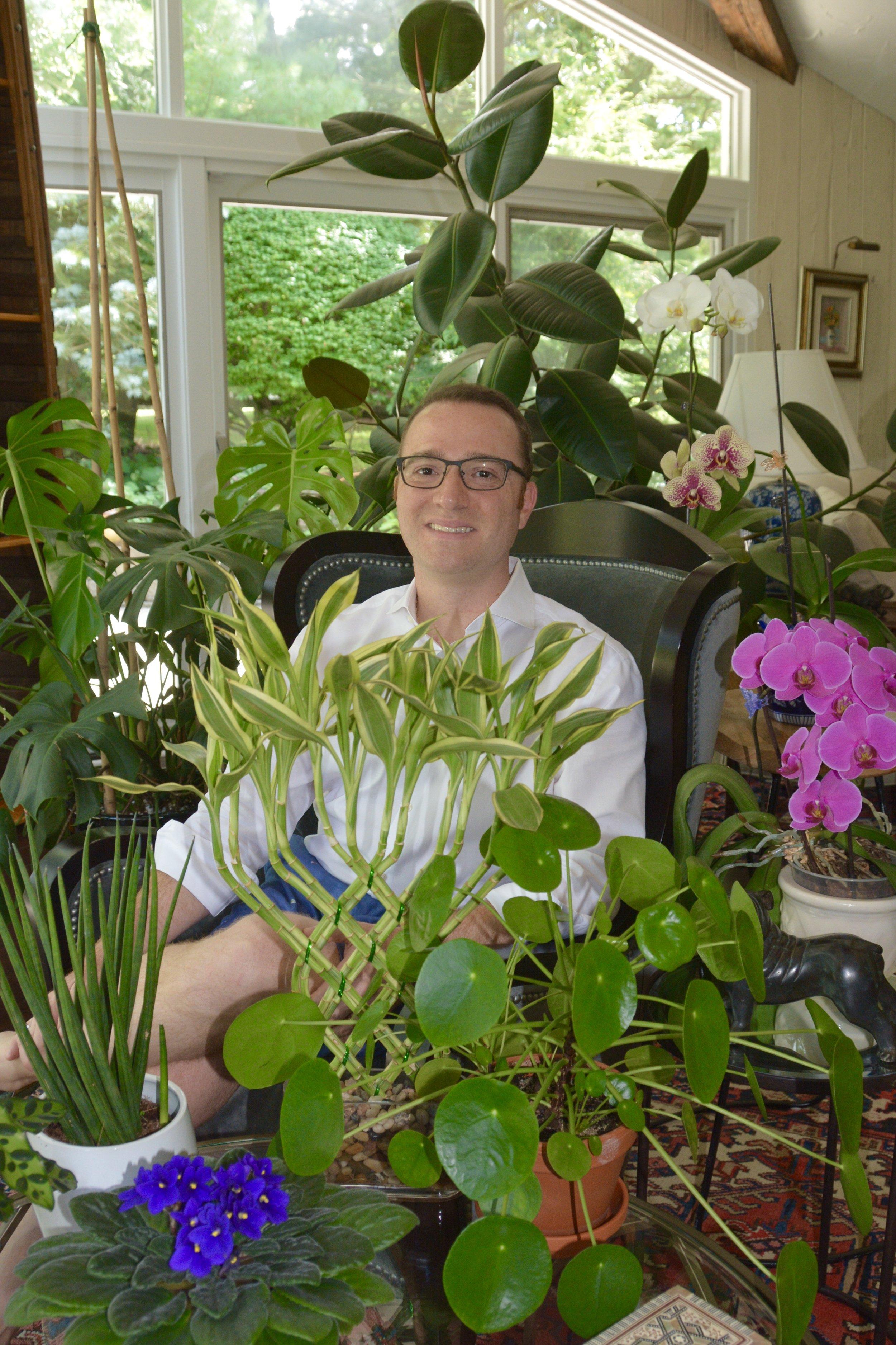 Raffaele Di Lallo with just some of his plants…
