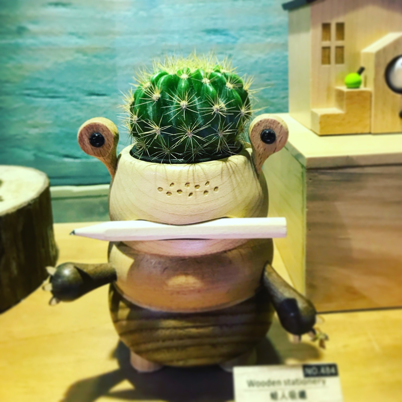 Wooden frog toy at Wooderful Life in China