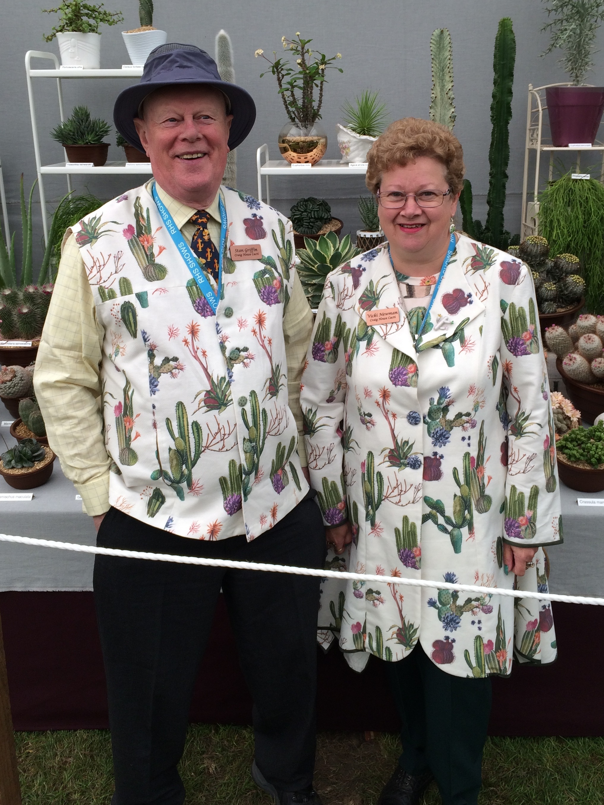 Stan Griffin and Vicki Newman from Craig House Cacti. Photograph: Jane Perrone.