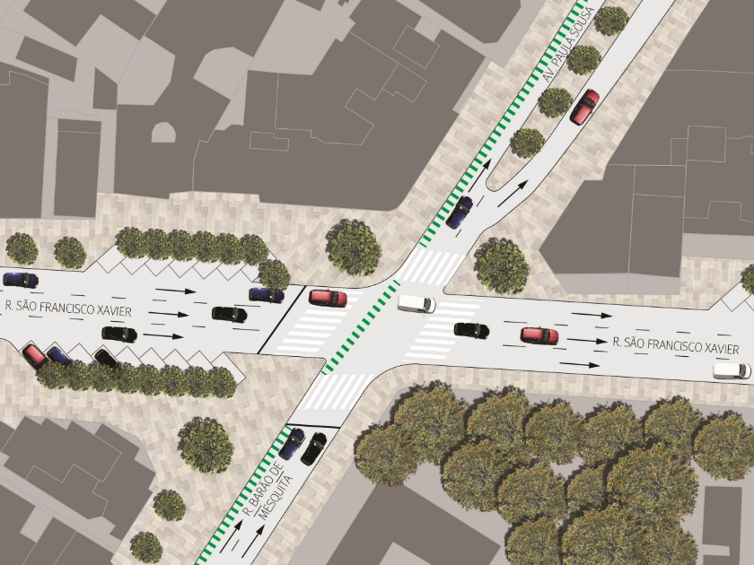 Public realm plan to improve walking conditions