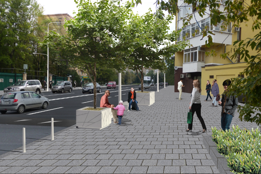 Concept visualisation of improved walking route