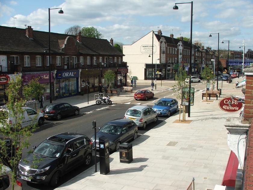 Streetscape improvements following implementation