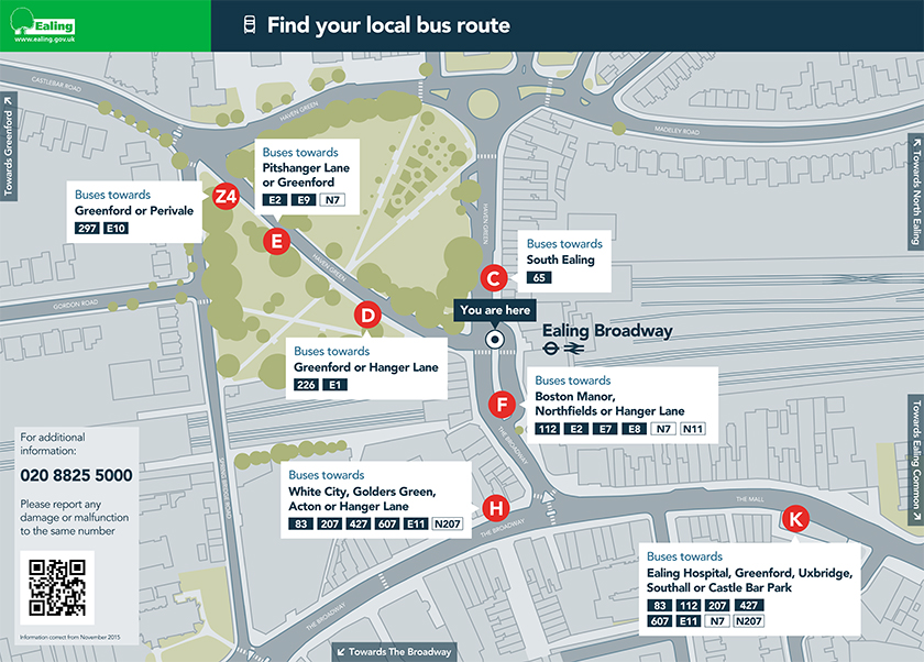 Bus stop locator map