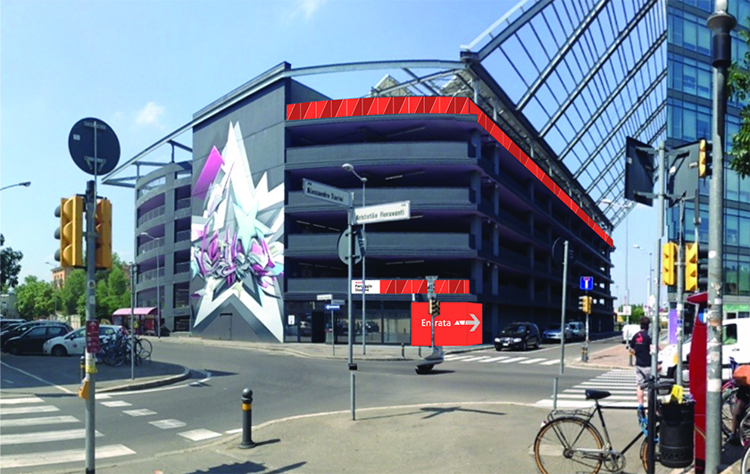 External signage and environmental graphics applications