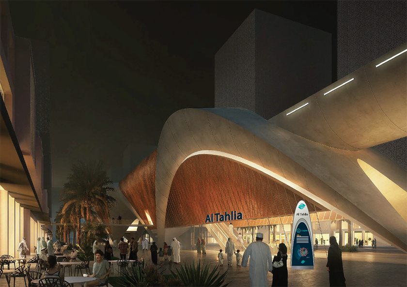 Bid stage concept:station identification and wayfinding signage