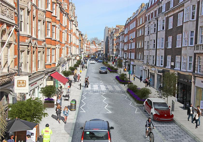 Visualisation of Marylebone High Street improvements