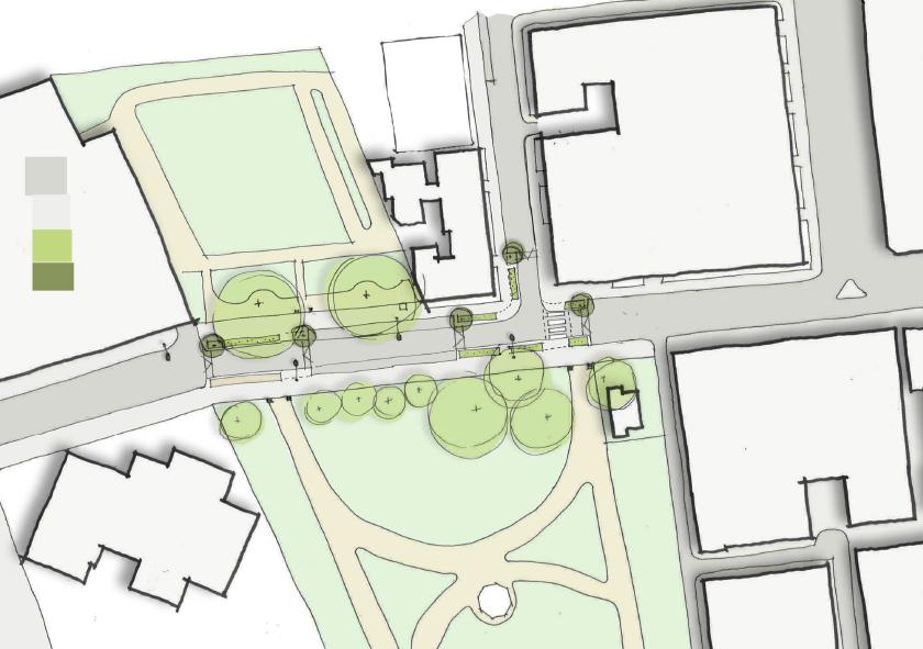 Sketch plan of Paddington Street