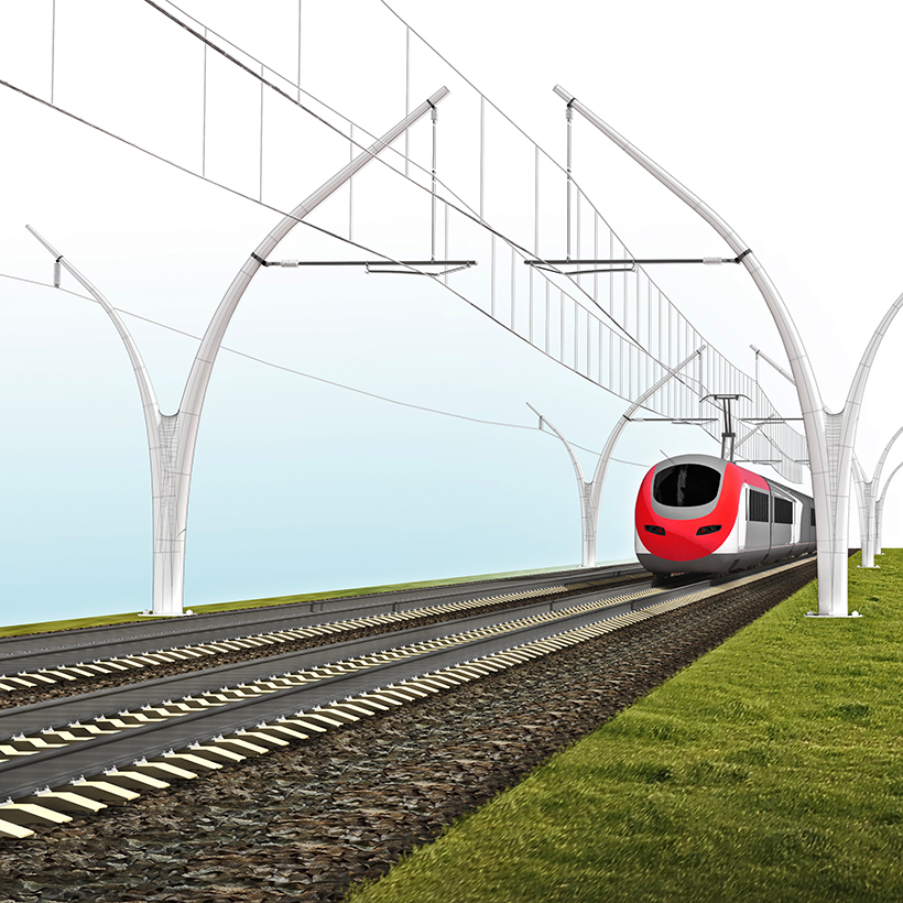 3D visualisation of single mast concept