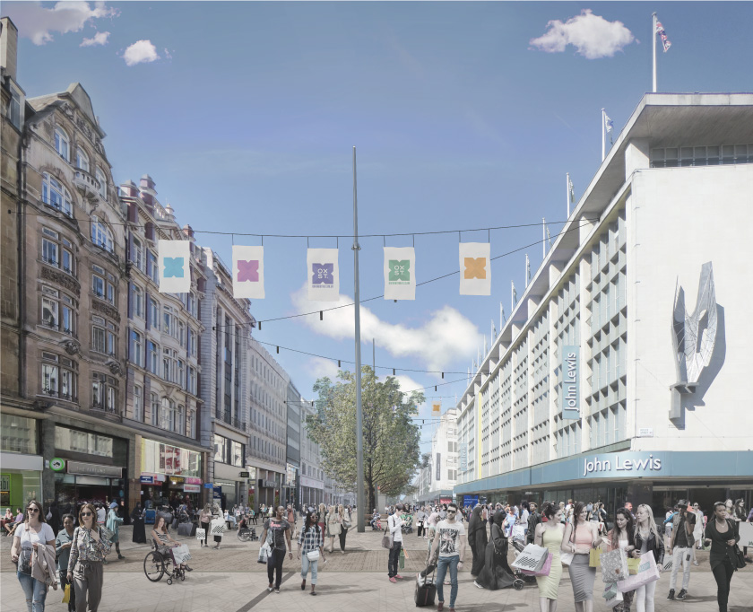 Visualisation of a pedestrianised Oxford Street