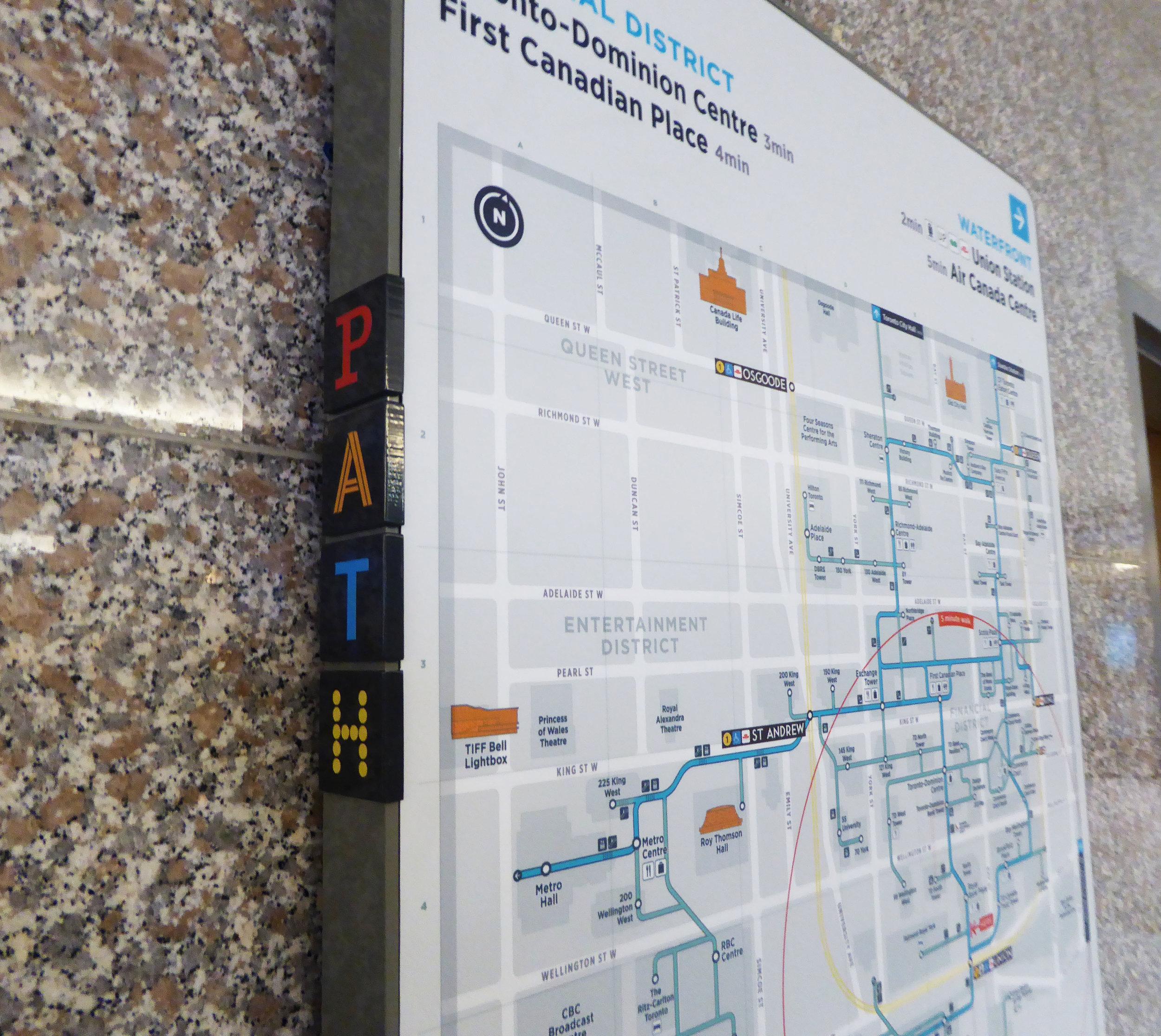 PATH pilot wall map, Augsut 2017