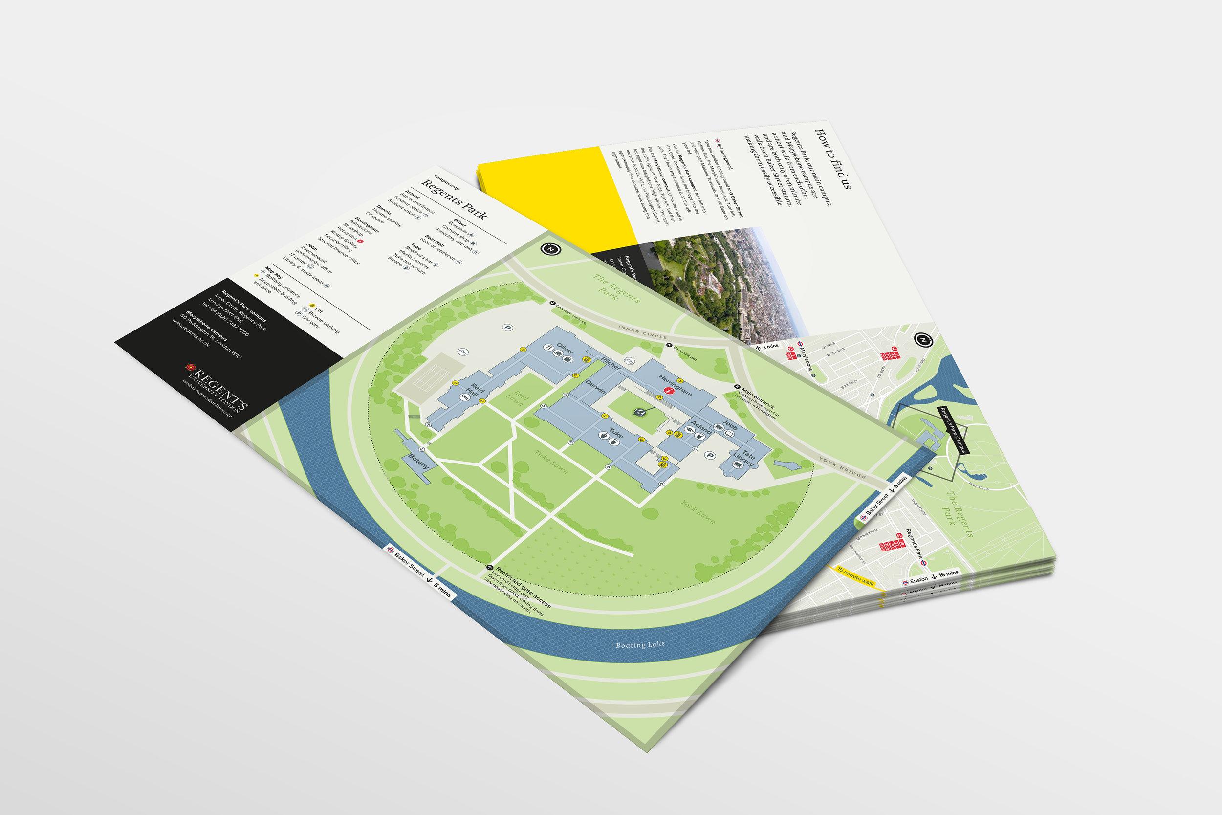 Regent's University campus visitor map