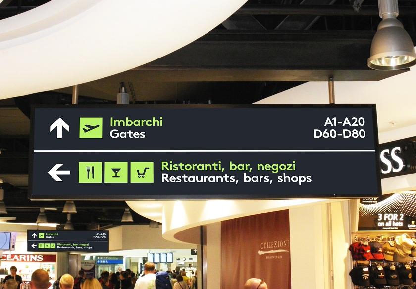 Concept Catania airport signage