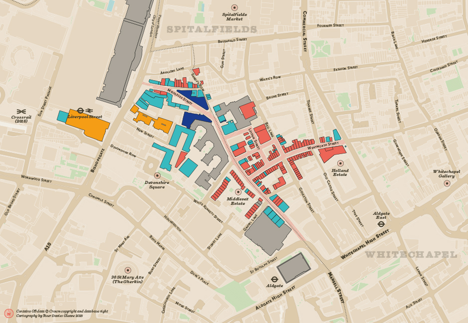 Researching the landuse of Petticoat Lane Market