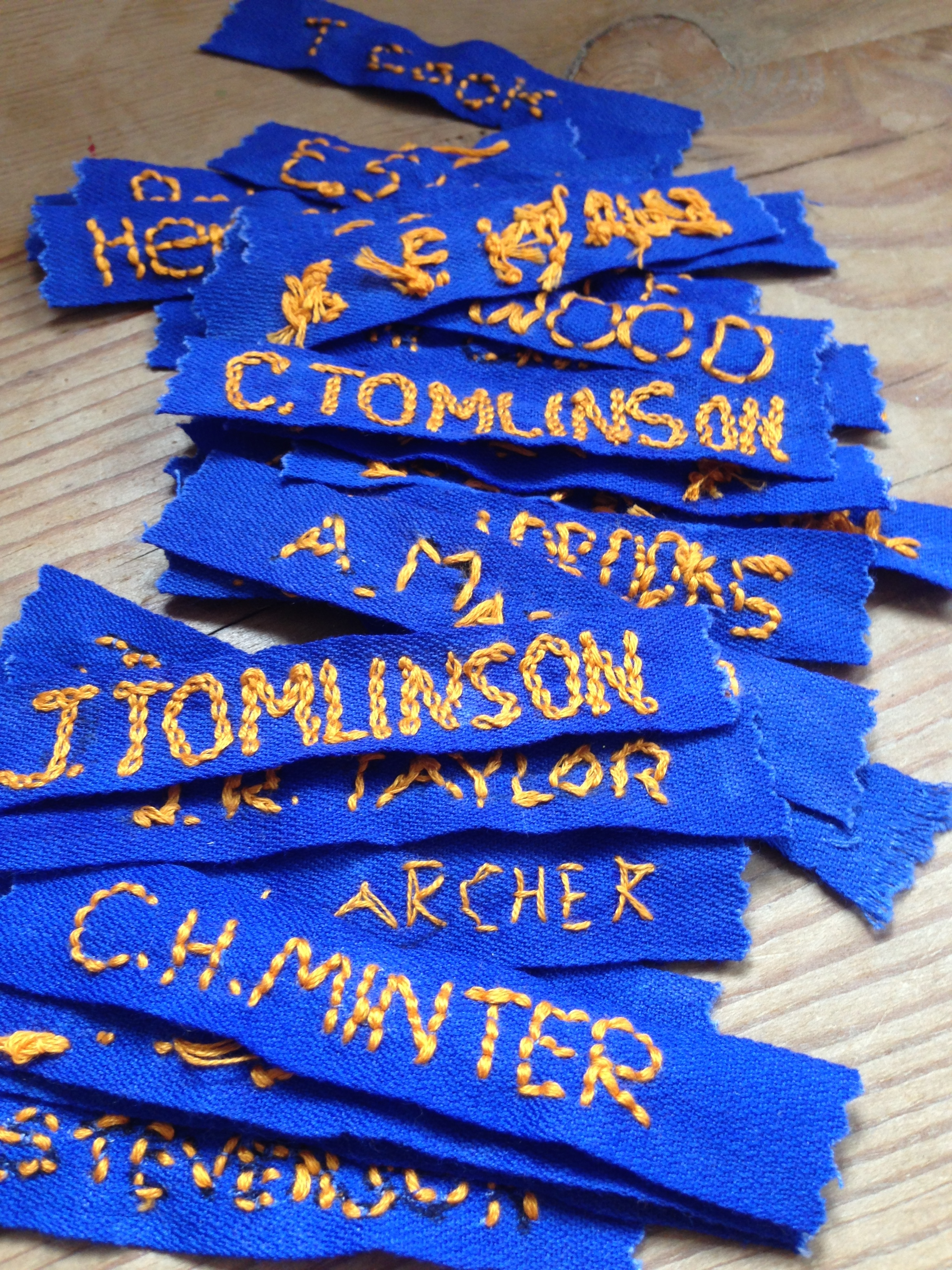 sewing nametapes