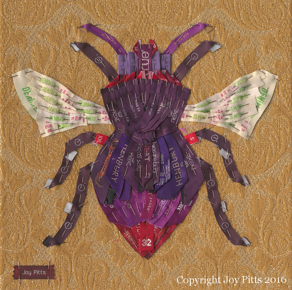 Bee print - 'Purple Bee with 83 garments'