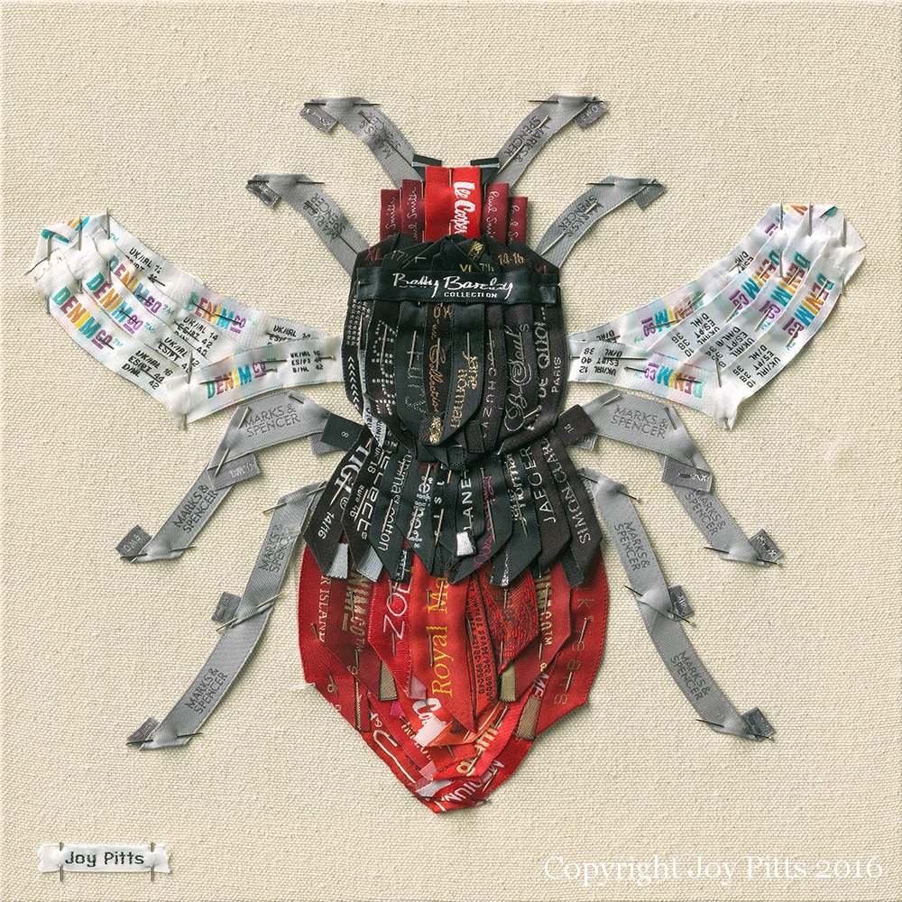 Bee print - 'Red Bee with 70 garments'