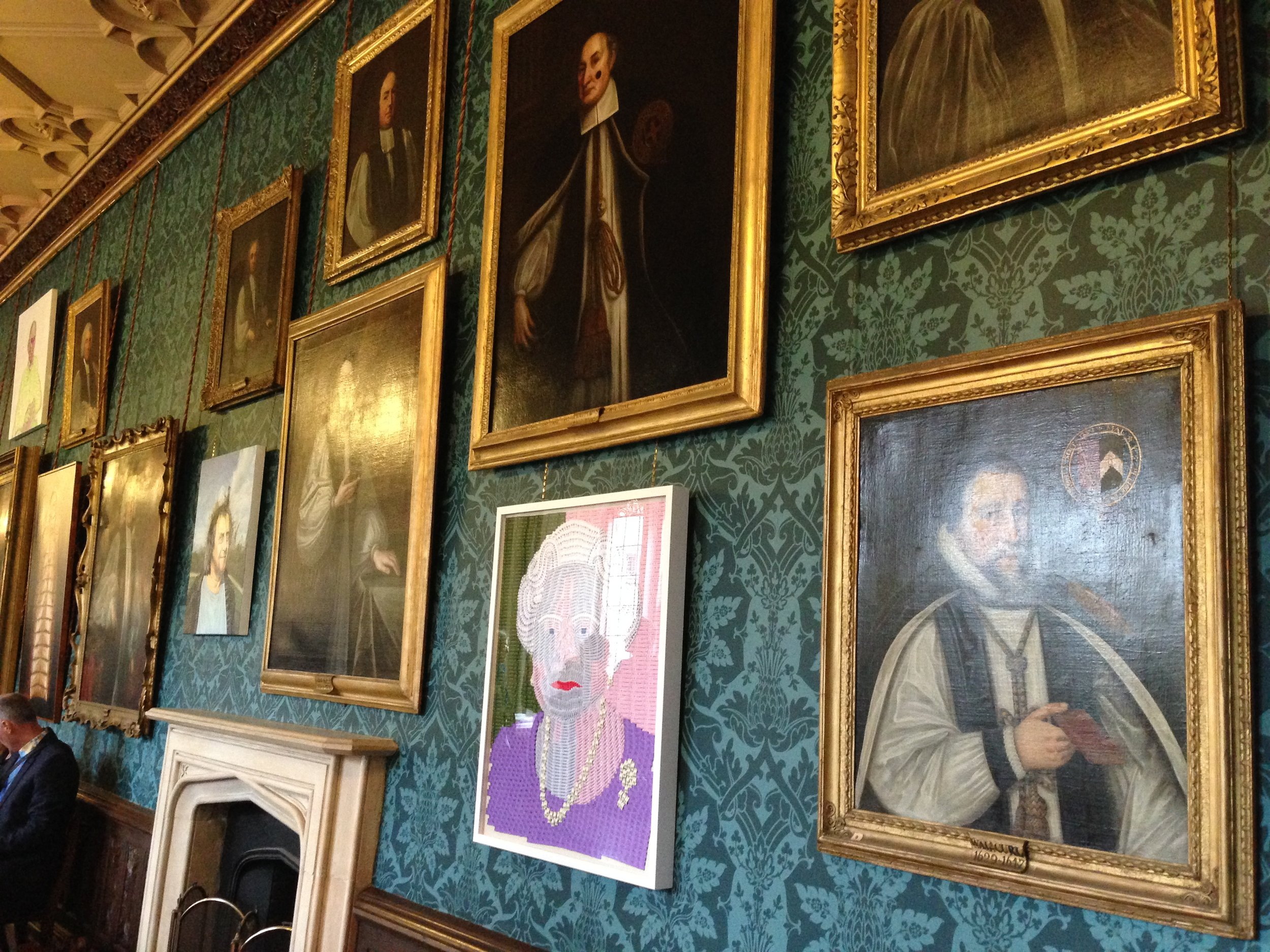Queens WW1 portrait proudly hung in the Long Gallery with historic portraits of past Bishops. The Exhibition continues until 22nd October 2016 at The Bishop's Palace, off Market Place, Wells, Somerset BA5 2RA inclusive 10am - 6pm.