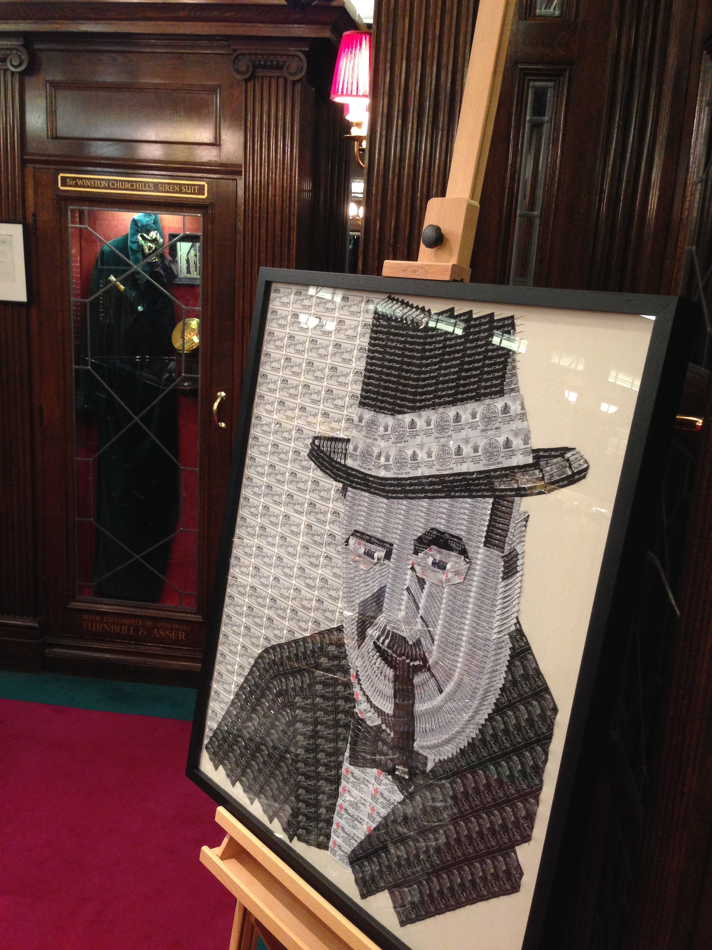 Turnbull & Asser, 71-72 Jermyn Street, London. SW1Y 6PF (displayed in store next to Churchill's famous green siren suit) until   November 30th 2016  .