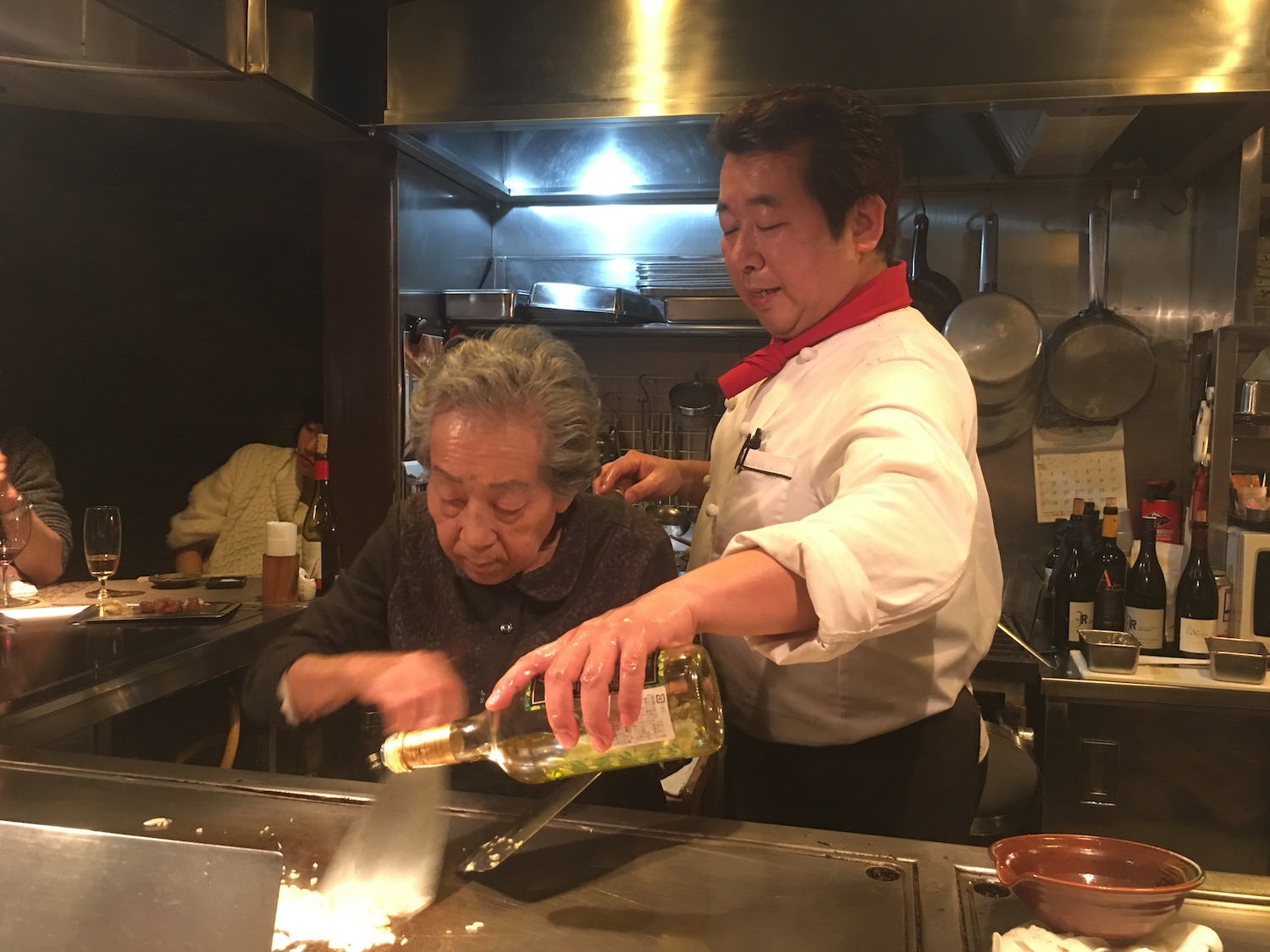 A 90-year-old grandmother and her chef son STILL WORKING at the family restaurant in Kobe. This was the best beef ever. Period. I got along so well with the chef, he ended up bringing me to his favorite Izakaya (japanese bar) where we drank tons and tons of sake and shared local dishes to our hearts content. The kindness in Japanese people is totally unparalleled in my experience.