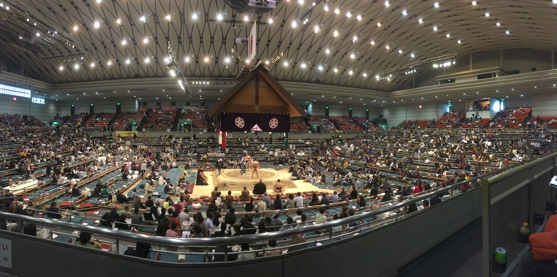 Sumo Tournament Stadium in Osaka