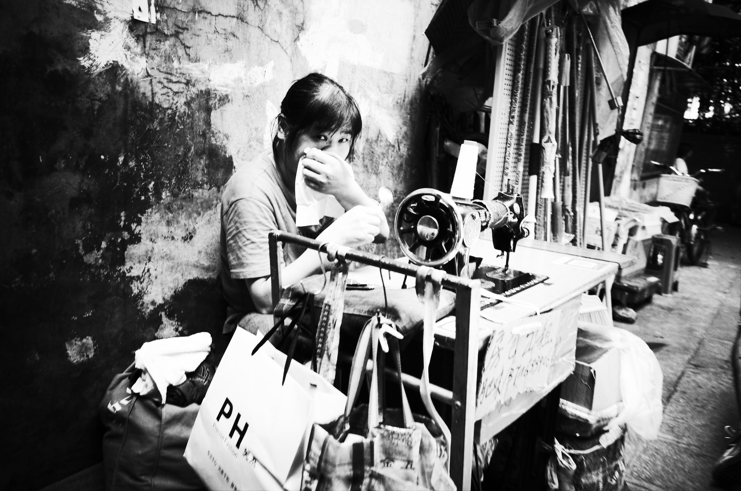 A woman working in the streets