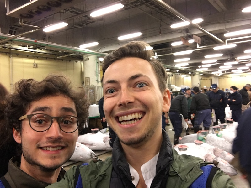 Wishing everyone the best with a cheeky selfie from one of the longest nights of my life (spent staring at tuna) at Tsukiji Fish Market ~6am.  P.S. I apologize for the fear my crazy eyes may have caused. It was a really, really long night...