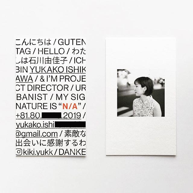 I designed it for @kiki_yukk 's new startup. 素敵な出会いに感謝するわ #urbanist #businesscard #namecard #bizcard #sz #graphicdesign #design #print #typography