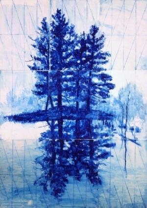 water colour monotype print by Gabriel