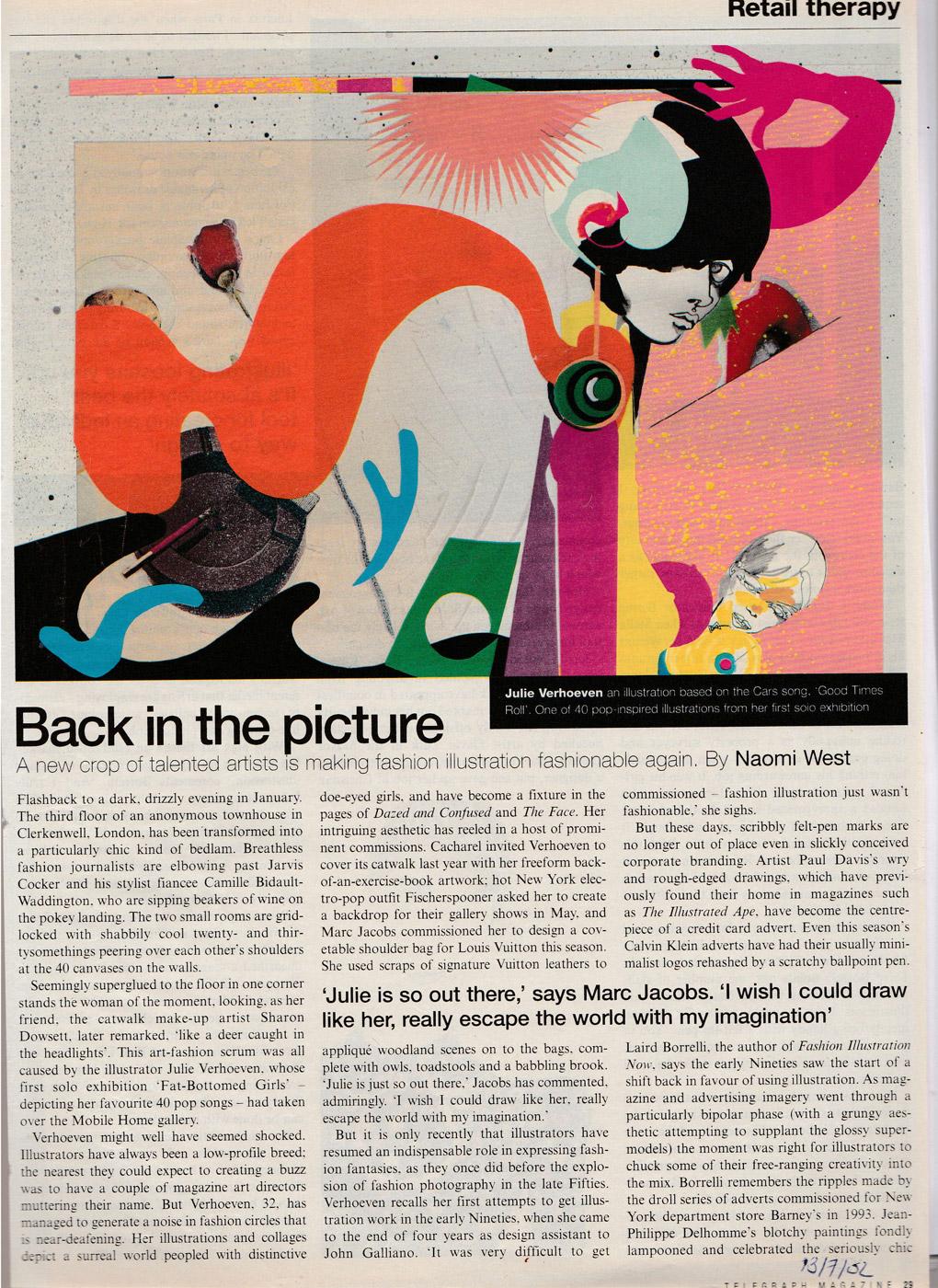 JulieVerhoeven_TelegraphMagazine2002