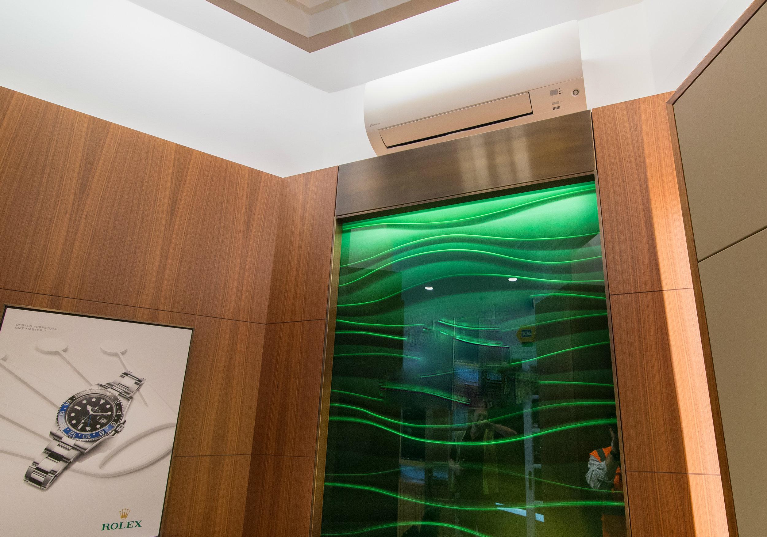Rolex Lounge AC installation
