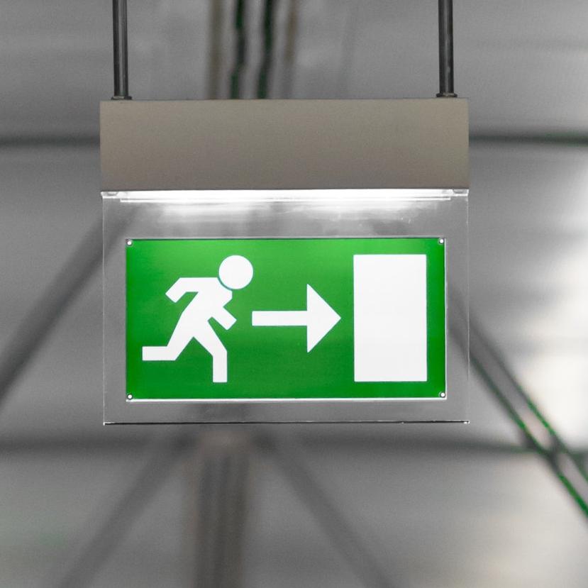 jcwes emergency light escape plan
