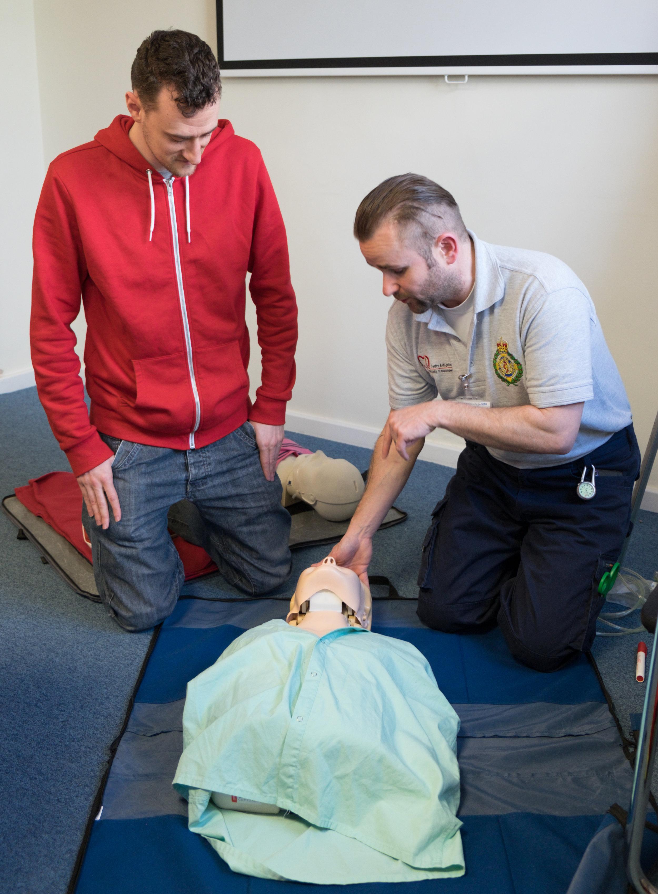 Scott's day of life saving training