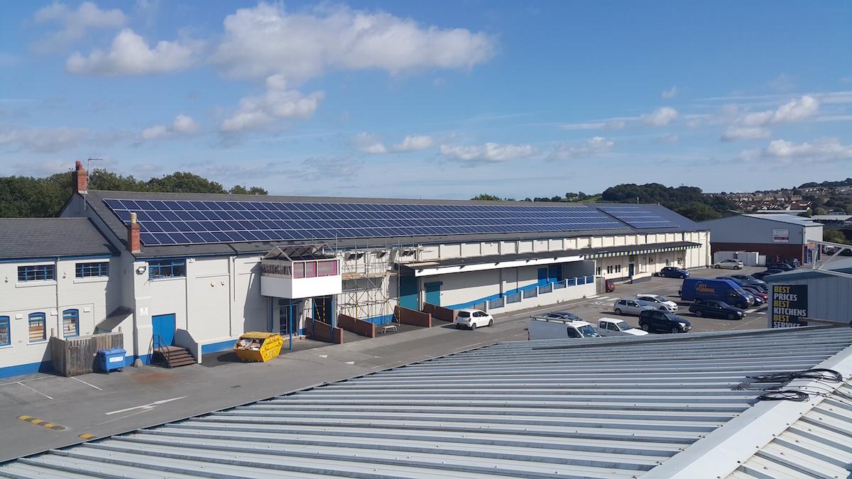Commercial premise roof solar cells jcw energy