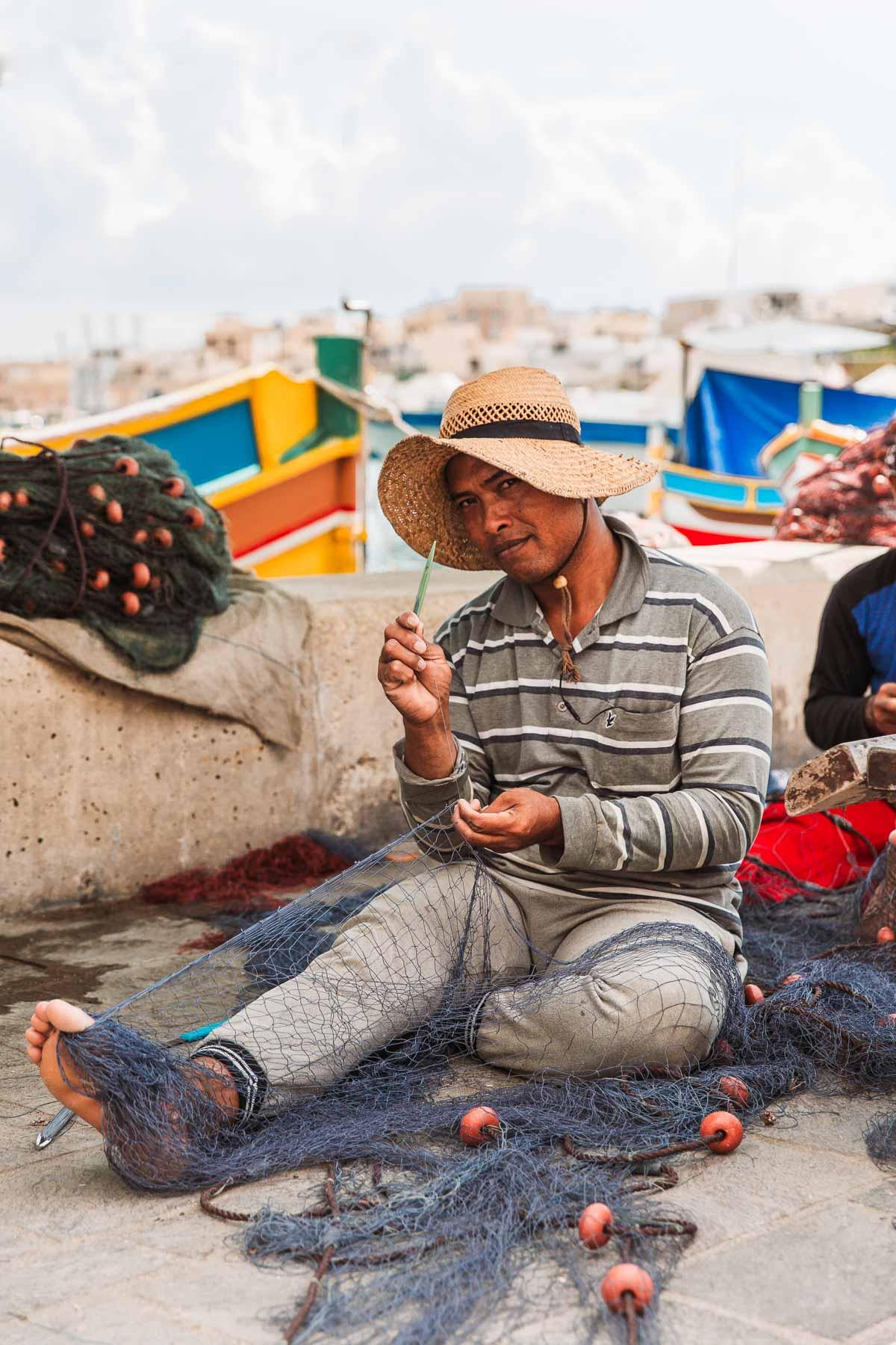 Bronwyn Townsend Malta Marsaxlokk Fisherman