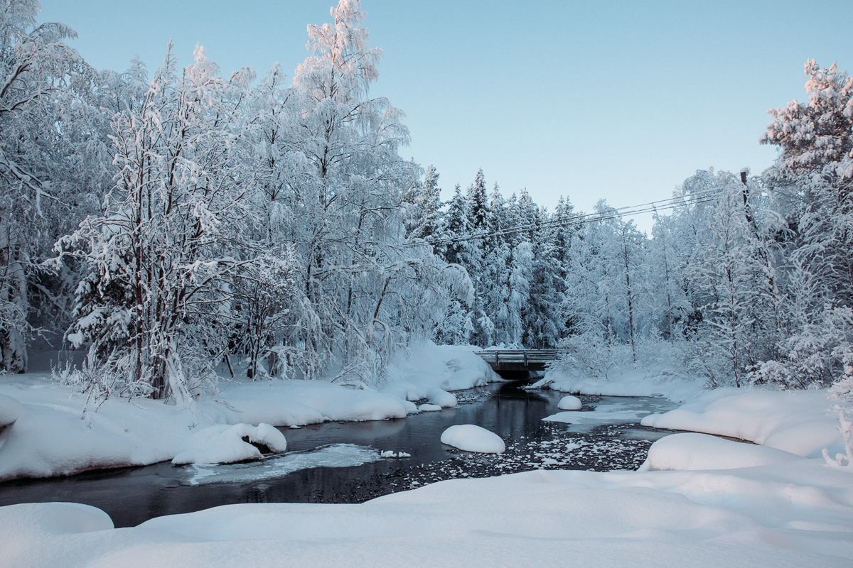 Finland Lapland river Bronwyn Townsend