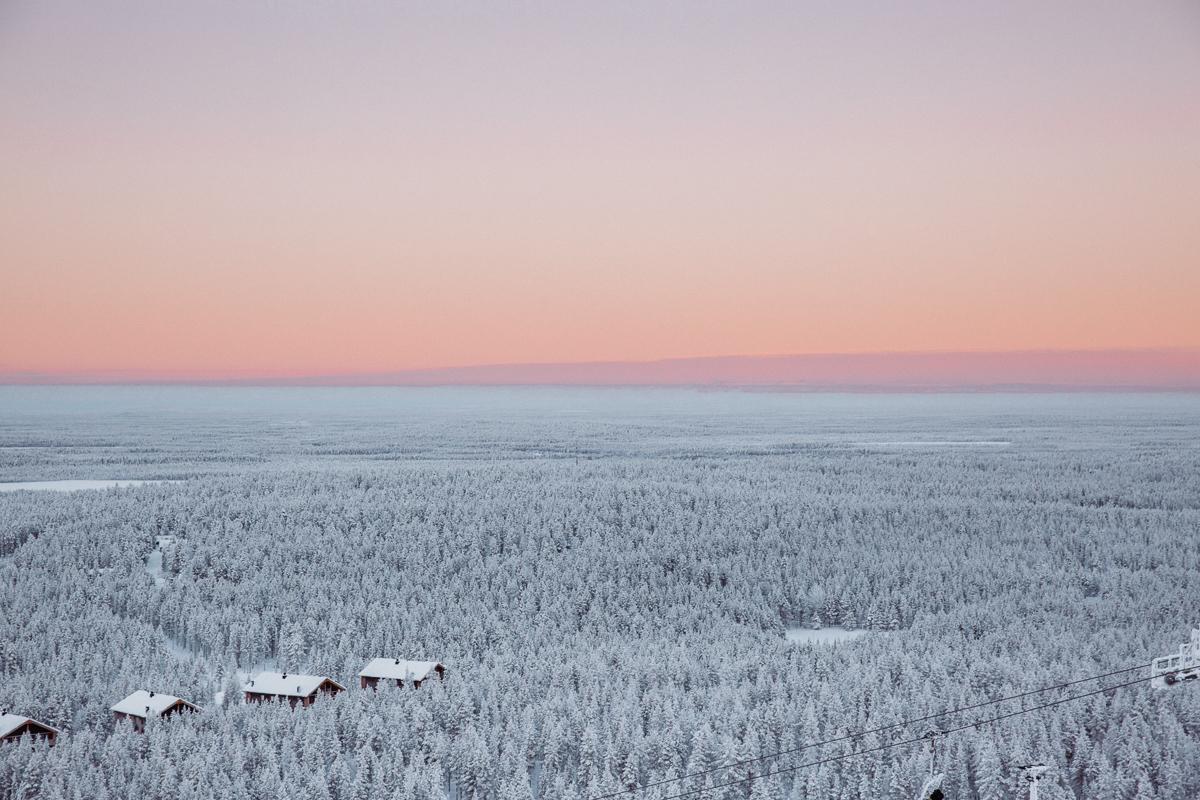 Lapland Sunset Finland Bronwyn Townsend
