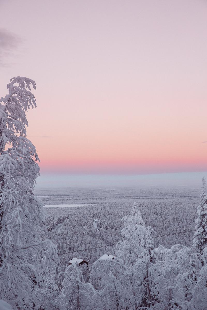 Bronwyn Townsend Levi Lapland Finland Sunset