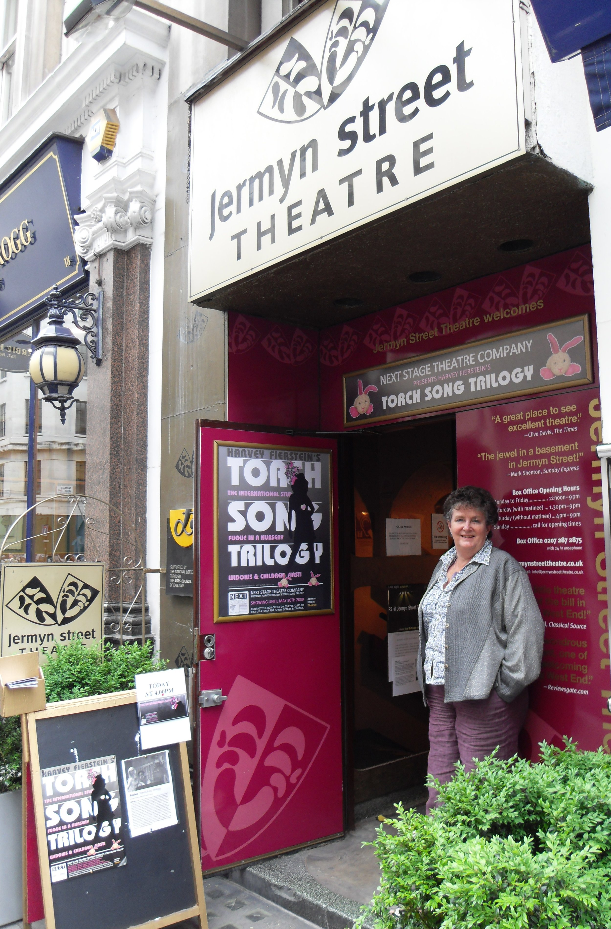 The entrance to Jermyn Street Theatre