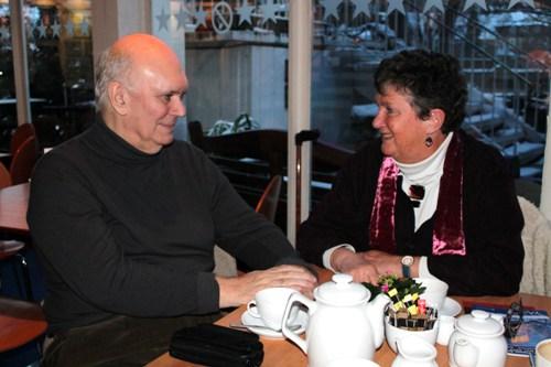 Sir Alan Ayckbourn with Artistic Director Ann Ellison, 2013