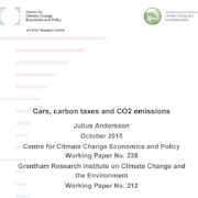 Centre for Climate Change, Economics and Policy working paper - Cars, carbon taxes and CO2 emissions (2015)