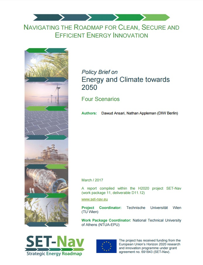 DIW Berlin policy brief: Energy and Climate towards 2050 - Four Scenarios (March 2017)