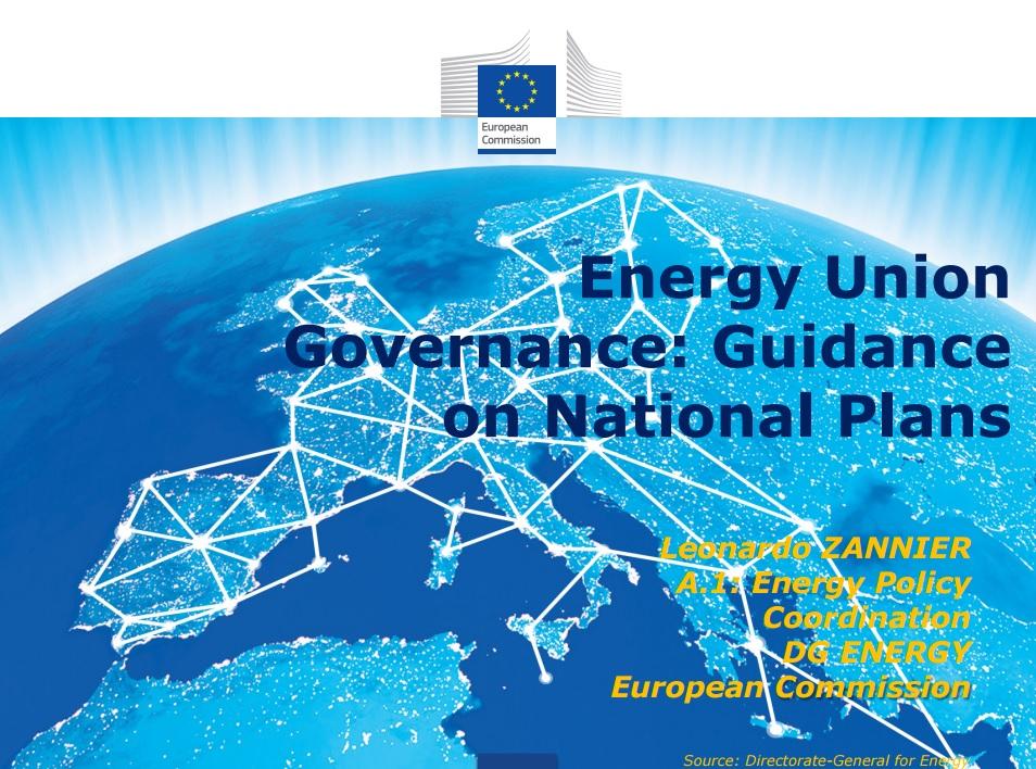 PPT: Energy Union governance - guidance national plans